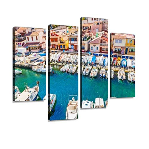 Visiting Vallon des Auffes Haven Canvas Wall Art Hanging Paintings Modern Artwork Abstract Picture Prints Home Decoration Gift Unique Designed Framed 4 - Rhone Village Cote