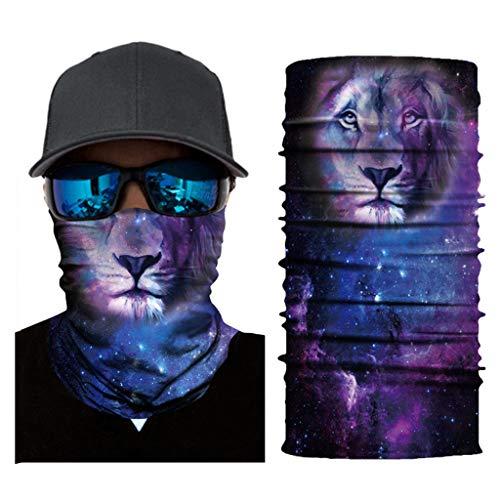 ZLOLIA Galaxy Pattern Bandana Face Mask Neck Gaiter Magic Scarf Balaclava Headband for Sun Dust UV