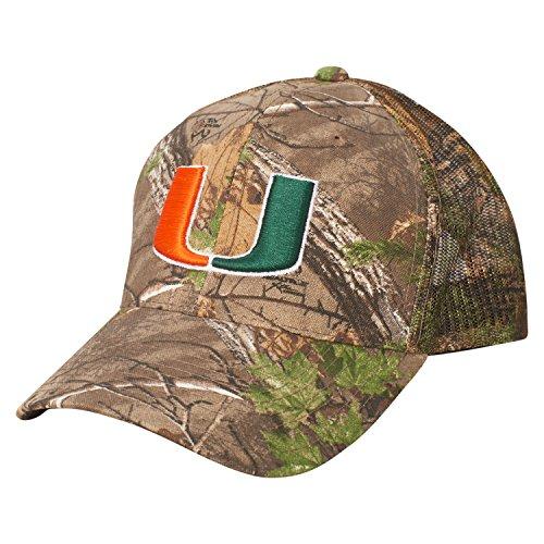 Ouray Sportswear NCAA Miami Hurricanes Dynasty Adjustable Hat, Adjustable, Realtree - Miami Hurricanes Camo