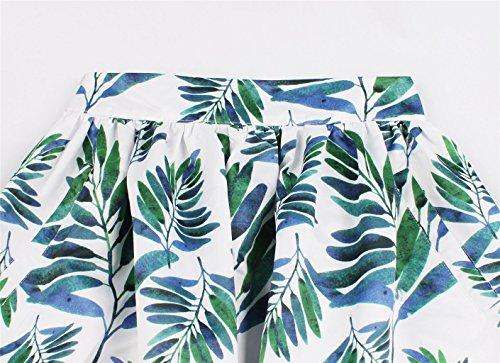 Vert Vintage Plisse Haute Mi Jupe Rtro Eudolah Jupe Chic Annes Feuille Femme Longue Taille 50 Midi FWY1ZqRc1w