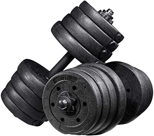 Adjustable Dumbbells Set, 30kg Dumbbell Weight Set for Women and Men Home Fitness Gym Exercise Training Tools (Black)