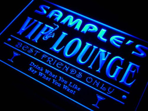 qi235-b Christian's VIP Lounge Club Cocktails Bar Neon Sign