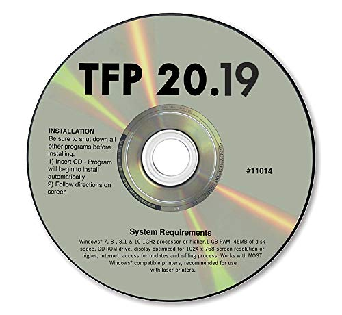 TFP 2019 Tax Form Software for 1099 & W2 Forms ~ Software for Small Business by DutyMark