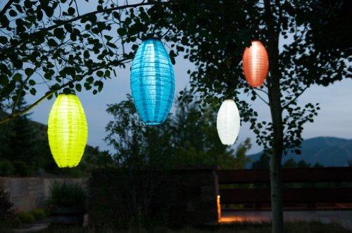 Allsop Home and Garden 7-Inch by 15-Inch Oblong Soji Pod Solar Lantern