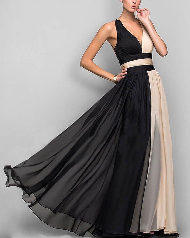 Femme Col V Profond Tulle sans Manches Taille Haute Mariée Cocktail Robe  Noir XL  Amazon.fr  Vêtements et accessoires 6d56184e796