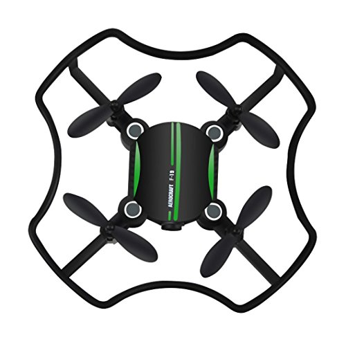 Gbell Cute Mini Camera Drone- Altitude Hold Quadcopter Florld F-19W Wifi FPV 480P Camera 3D flips Drone for Beginnners,Birthday Christmas New Year Gifts for Kids Adults,Black (Black) by Gbell