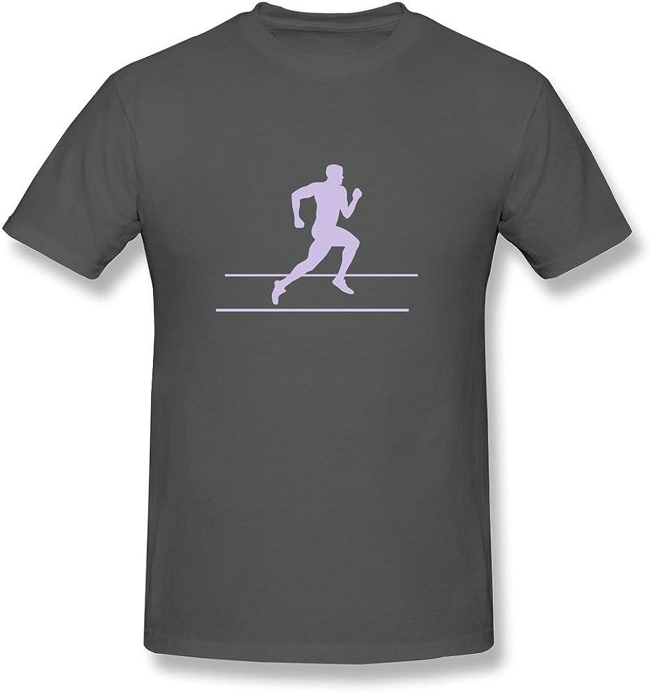 Mens Runner Running Sprinter Tee,DeepHeather Tee By HGiorgis