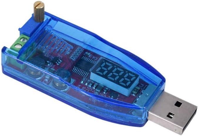 Couleur : Red Vpqtettuecu Accessoires pour Ordinateur Module daffichage USB de Tension de 5V /à 24V 12V Boost Alimentation de Bureau r/églable 3W 1-24V Module de Test