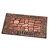 Collections Etc Stone & Pebbles Outdoor Welcome Mat for Front Door Review