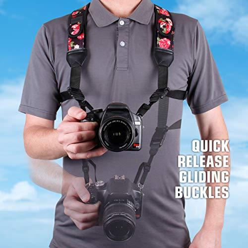 Buy floral scarf camera strap