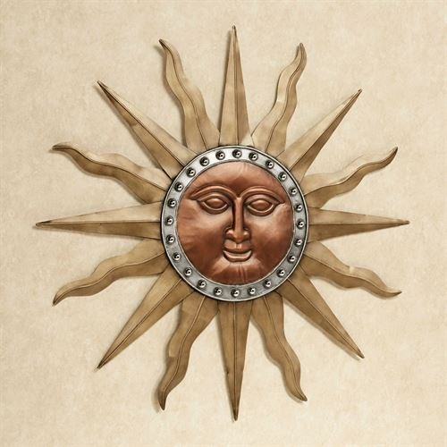 Touch of Class Radiant Shine Sun Wall Art Multi - Sun Sculpture Copper
