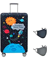 Travelkin - Funda para equipaje lavable y antiarañazos, compatible con equipaje de 55 a 86 cm, Ir viaje-Galaxia, M