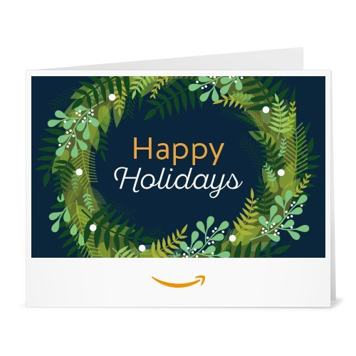 Large Product Image of Amazon Gift Card - Print - Holiday Wreath