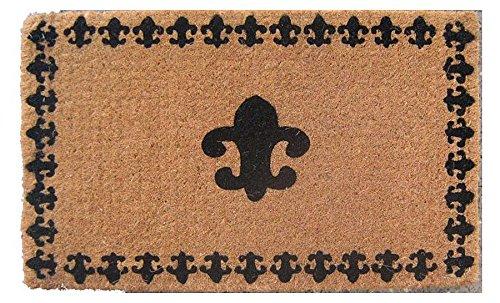 Door Mats - French Fleur De Lis Traditional Coir Doormat - 18