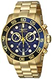 Invicta Men's 21555 Pro Diver 18k Gold Ion-Plated Stainless Steel...