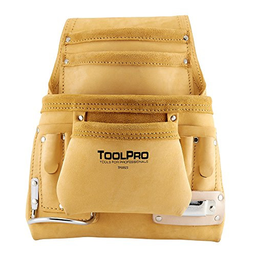 Top Grain Leather Tool - ToolPro Top Grain Leather Tool and Nail Pouch