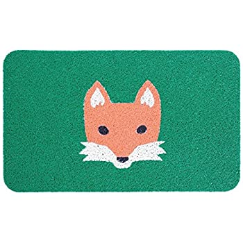 Amazon Com Kikkerland Doormat Fox Garden Amp Outdoor