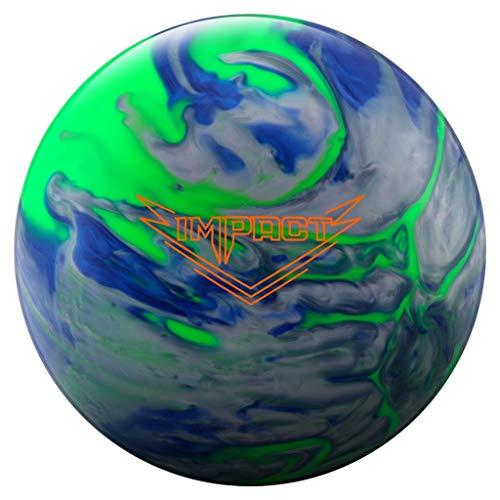 Ebonite 029744028187 Impact Bowling Ball, Lime/Blue/Silver, 15 (Bowling Ball Silver)