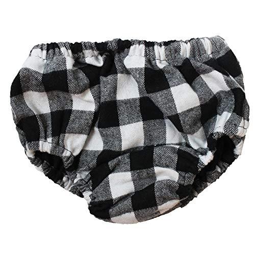 juDanzy Baby Boys Diaper Cover (Newborn, Black & White Buffalo Plaid) from juDanzy