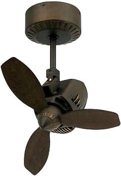 Troposair Mustang 18 Oscillating Indoor Outdoor Ceiling Fan In Rubbed Bronze Amazon Com