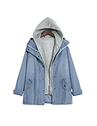 Jackets Winter Warm Denim Hooded Cardigan Coat Outwear AfterSo Womens