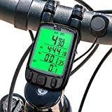 Mture Bike Computer, Cycling Computer Wireless Waterproof Bicycles Speedometer Automatic Wake-up with Backlight LCD Display for Tracking Riding Speed Time and Distance
