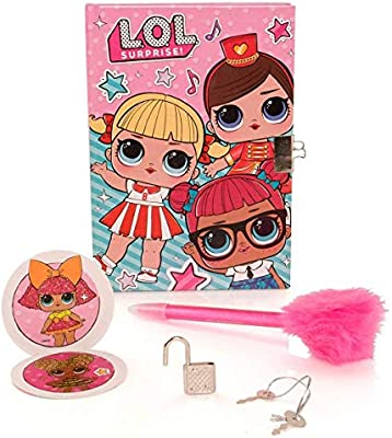 LOL Surprise! Diary with Pom Pen on Card, Small, Pink