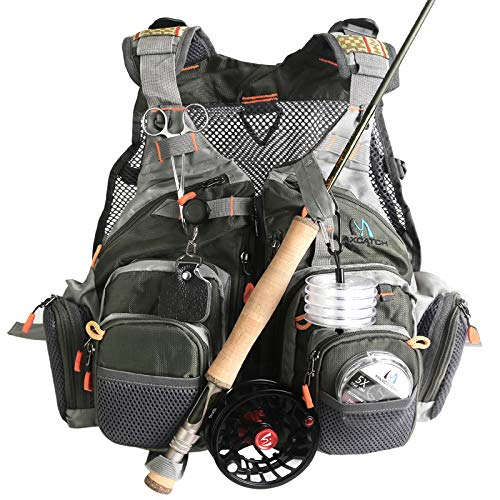 M MAXIMUMCATCH Maxcatch Fly Fishing Vest Mesh Vest Free Size (Best Fly Fishing Vest)