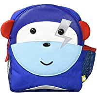Puku Pals Premium Monkey Kids Blue Backpack Bag for Boys and Girls