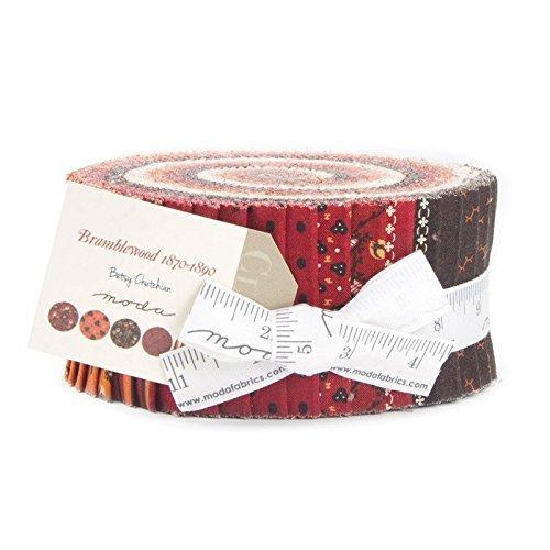 Bramblewood Betsy Chutchian Jelly Roll 40 2.5-inch Strips Moda Fabrics 31520JR (Four Seasons Quilt Shop)