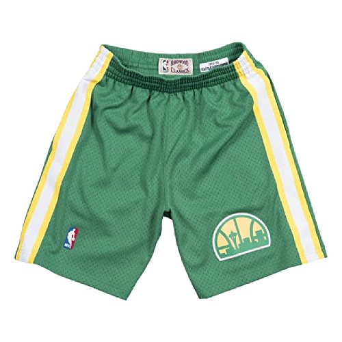 tle Supersonics NBA Men's 1994-95 Swingman Road Shorts Green (Large) ()