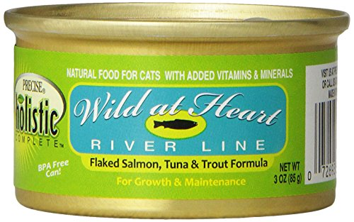 Precise 726395 24-Pack Holistic Complete Grain Free Salmon/Tuna/Trout Food for Pets, 3-Ounce