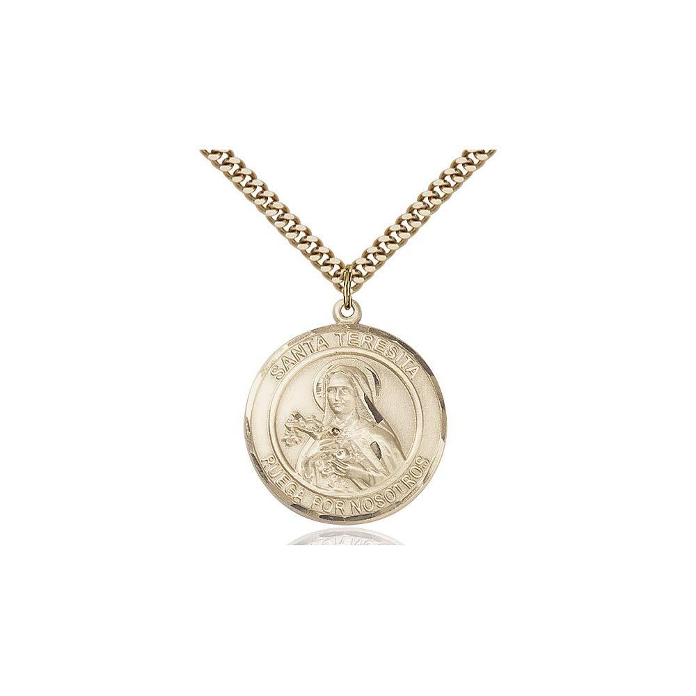 DiamondJewelryNY 14kt Gold Filled Santa Teresita Pendant