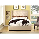 California King Mattress Dimensions in Feet Bowery Hill California King Upholstered Bed in Ivory