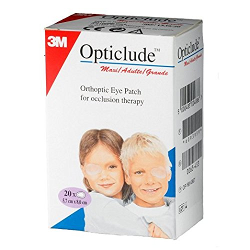 Opticlude 1539 Orthoptic Boy's and Girl's Junior Eye Patches Coloured - Maxi Size, Pack of 20