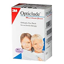 Opticlude Orthoptic Boys and Girls Eye Patches Coloured (Maxi Size, 30 Pack)