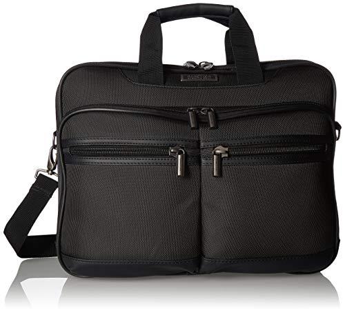 "Kenneth Cole Reaction Brooklyn 17"" Portfolio Laptop Briefcase Black One Size"