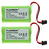 Floureon 2x Ni-mh Cordless Phone Batteries for Uniden Bt-1007, Office Central