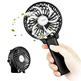 PC Hardware : EasyAcc 2600mah Battery Handheld Fan Portable Battery Operated USB Fan Mini Personal Fan Outdoor Electric Fan with Rechargeable LG 2600mAh Battery Adjustable 3 Speeds Foldable Home and Travel -Black