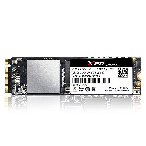 ADATA XPG SX6000 PCIe 128GB 3D NAND PCIe Gen3x2 M.2 2280 NVMe 1.2 R/W up to 1000/800MB/s Solid State Drive - Overclocking Express Pci