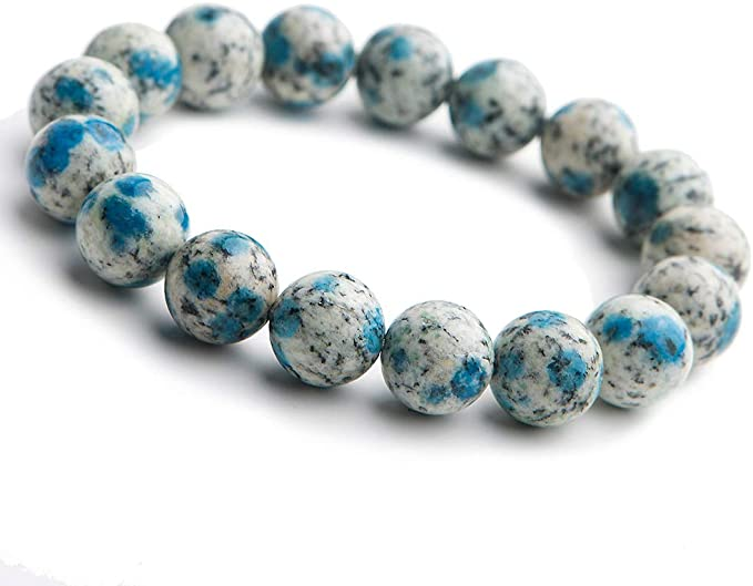 relax \u2022 matte blue amazonite beaded stretch bracelet \u2022 8mm