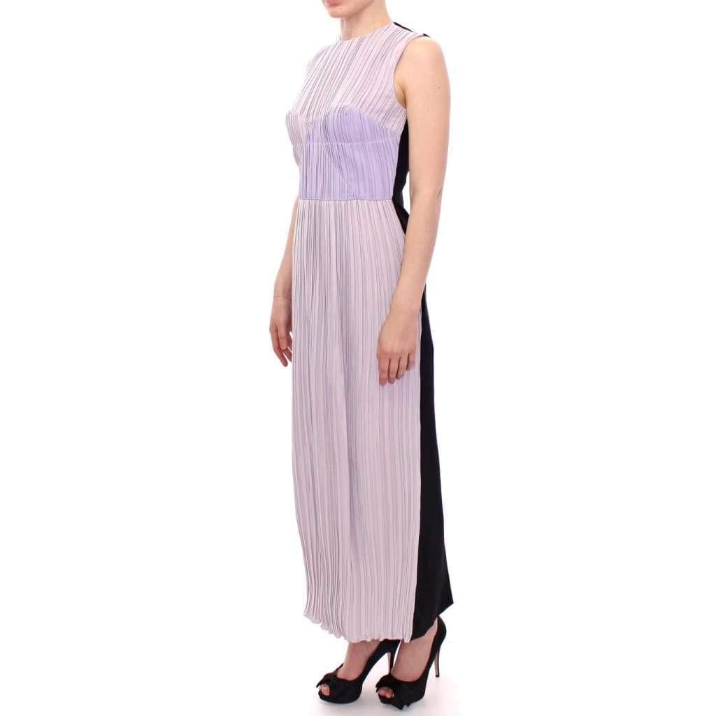420b40856ae5 Barbara Casasola Black Lavender Gown Maxi Silk Long Dress at Amazon Women s  Clothing store