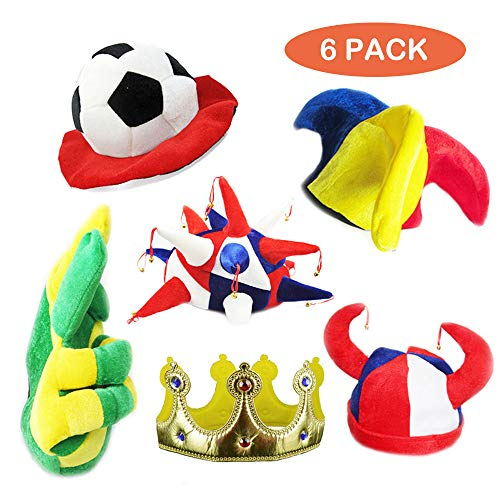 TD.IVES Funny Party Hats,Novelty Party Hats, Funny Costume Hats,6 pcs Assorted Party Hats for Adults, Teens, Photobooth, Party, Weddings, etc]()