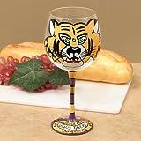 LSU Tigers Hand-Painted 16oz. Wine Glass