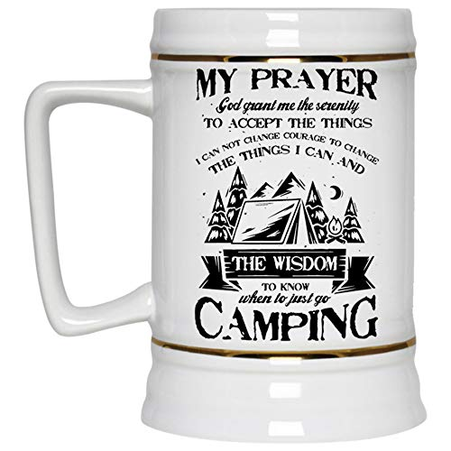 When To Just Go Camping Beer Mug, My
