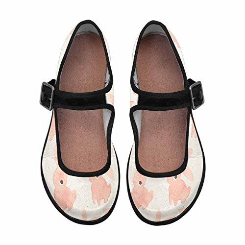 Casual Multi 5 InterestPrint Flats Mary Shoes Walking Jane Womens Comfort UKBrZOKX