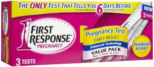 FIRST RESPONSE Pregnancy Test 6 Days Sooner 3 Each