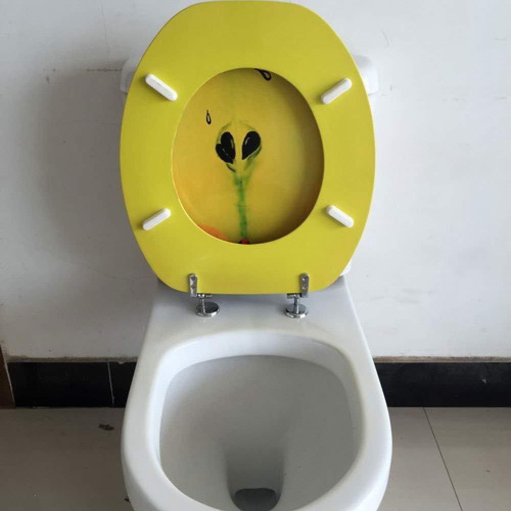 CTAD Si/ège De Toilette avec Couvercle De Toilette Ultra R/ésistant Antibact/érien /épaissi par MDF pour Toilettes Compatibles De Forme O//V//U,OneColor