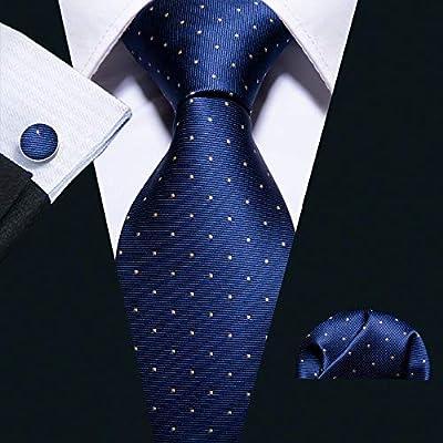 HYCZJH Lazo de Seda del Lunar de la Moda Corbata Tejida para el ...