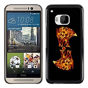 "For HTC One ( M9 ) , S-type Flaming Resumen"" - Arte & diseño plástico duro Fundas Cover Cubre Hard Case Cover"